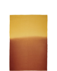 Sies Marjan Yellow And Burgundy Amo Edition Pastoral Scarf