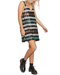 Volcom Seek Whence Sequin Stripe Dress