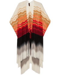 Missoni Fringed Metallic Crochet Knit Wrap