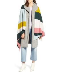 Halogen X Atlantic Pacific Stripe Cashmere Wrap