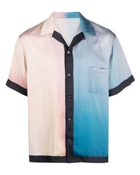 Attachment Gradient Print Short Sleeve Shirt