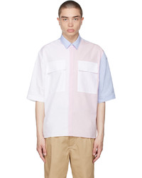 MAISON KITSUNÉ Multicolor Large Pockets Short Sleeve Shirt