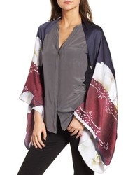 Gardenia silk cape scarf medium 8862002