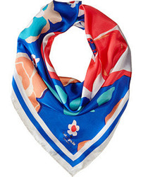 New york multi floral silk square scarves medium 343301