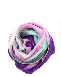 Ombre multi color silk scarf medium 343300