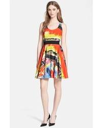 Multi colored skater dress original 1424769