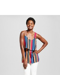 August moon multi striped woven tank medium 5023507