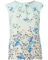 Billie Blossom Petite Butterfly Print Shell Top