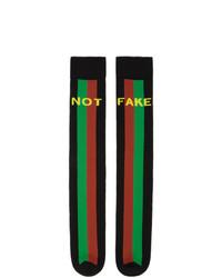 Gucci Black Fake Not Socks