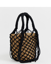 My Accessories London Woven Straw Grab Bag Bag