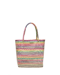 SENSI STUDIO Sensi Multicoloured Straw Tote Bag