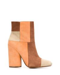 Derek Lam 10 Crosby Patchwork Block Heel Boots