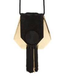 Saint Laurent Opium Genuine Snakeskin Leather Saddle Bag