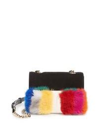 Salvatore Ferragamo Mini Vara Genuine Mink Fur Crossbody Bag