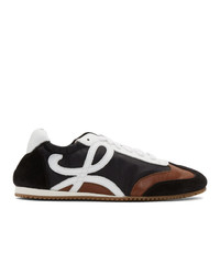 Loewe Black And Brown Ballet Runner Sneakers