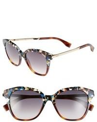 Fendi 52mm Retro Sunglasses Havana Multi Gold