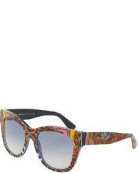 Dolce & Gabbana Dna Printed Square Sunglasses Multicolor