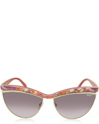 Emilio Pucci Ep0010 Fantasy Acetate Cat Eye Sunglasses