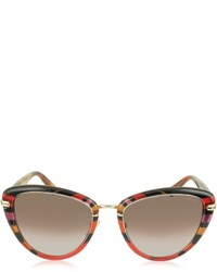 Emilio Pucci Ep0011 Fantasy Acetate Frame Cat Eye Sunglasses