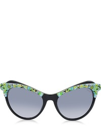 Emilio Pucci Ep35 Fantasy Acetate Frame Cat Eye Sunglasses