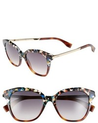 Fendi 52mm Retro Sunglasses Havana Multi Gold