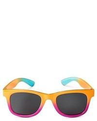 Girls Tie Dye Rectangle Sunglasses Multi Colored