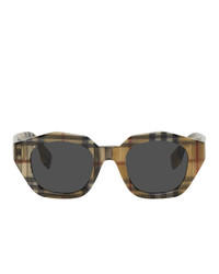 Burberry Multicolor Vintage Check Geometric Frame Sunglasses