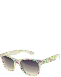 Arizona Rectangle Sunglasses With Floral Print