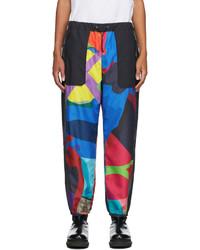 Sacai Multicolor Kaws Edition Colorblocked Lounge Pants