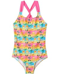 St. Tropez Girls 8 16 Emoji One Piece Swimsuit