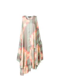 Ter Et Bantine Colour Block Flared Midi Dress