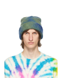The Elder Statesman Blue And Green Hot Dye Watchman Beanie