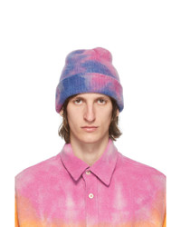The Elder Statesman Pink And Blue Hot Dye Watchman Beanie