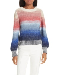 Multi colored Tie-Dye Crew-neck Sweater