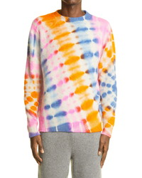 The Elder Statesman Illusion Tie Dye Cashmere Sweater