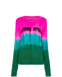 The Elder Statesman Tie Dye California Intarsia Cashmere Sweater