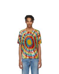 The Elder Statesman Multicolor Cashmere Tie Dye T Shirt