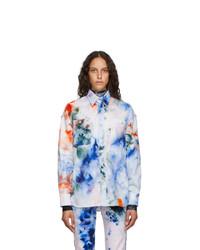 S.R. STUDIO. LA. CA. White Soto Hand Dyed Denim Shirt