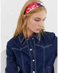 ASOS DESIGN Bright Tie Dye Headscarf