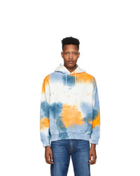 MSGM White Watercolor Hoodie
