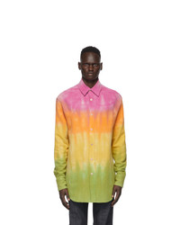 The Elder Statesman Multicolor Gradient Bloomsland Shirt