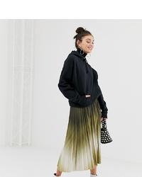 Multi colored Tie-Dye Midi Skirt