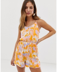 New Look Py Playsuit In Tie Dye