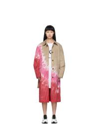MSGM Multicolor Tie Dye Trench Coat