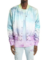 Amiri Watercolor Satin Bomber Jacket