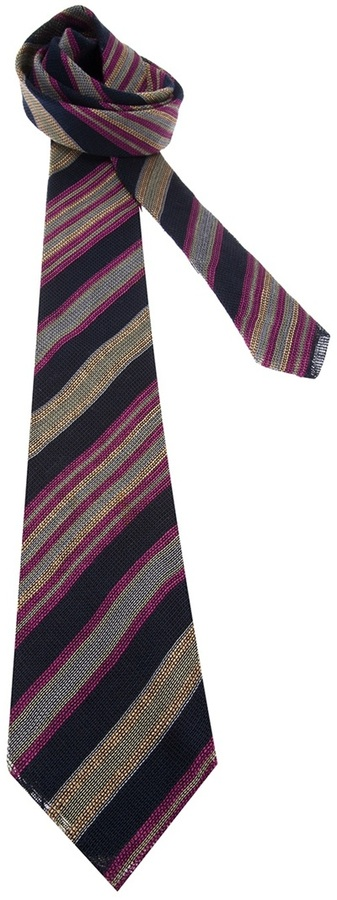 Versace Gianni Vintage Striped Tie