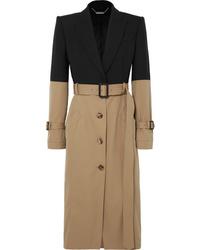 Alexander McQueen Two Tone Cotton Coat