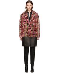 Alexander McQueen Multicolor Tweed Wishing Tree Cocoon Coat