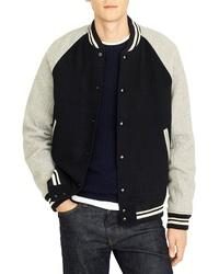 J.Crew Letterman Wool Blend Jacket