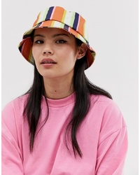 ASOS DESIGN Stripe Bucket Hat